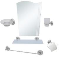 Alper 6 Parça Ayna Seti Bayrak Ayna Uzun Havluluk