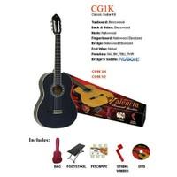 Valencia Cg1K34Bk Klasik Gitar Set Siyah