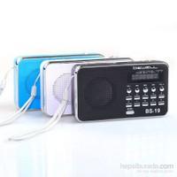 Bewell BS19 USB Mini Radio ve MP3 Çalar Hoparlör (Beyaz)
