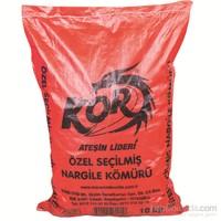 Kor Özel Seçilmiş Nargile Kömürü 10 Kg (Kırmızı Çuval)