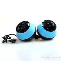 Bewell BS013 USB Mini Yüksek Sesli Hoparlör - Mavi