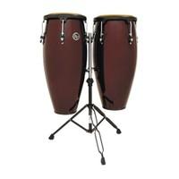 """Latin Percussion Cp640-Dwb 10""""(25.40 Cm) & 11""""(27.94 Cm) W/Stand Dark Wine Conga Set"""