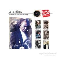 Gıpta 2147 Atatürk Sert Kapak 13x18 cm 80 Yaprak Çizgili Defter