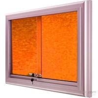 Akyazı 90x120 Alüminyum Camekanlı Kumaşlı Pano (Turuncu)