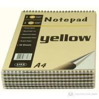 Liz A4 Spiralli Bloknot 40yp Çizgili -sarı