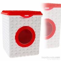 Kare Hasır Deterjan Kutusu Kırmızı