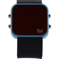 You Watch Light Blue Black Buttons Unisex Kol Saati