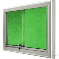 Akyazı 60x90 Alüminyum Camekanlı Kumaşlı Pano (Yeşil)