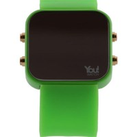 You Watch Neon Green Buttons Unisex Kol Saati