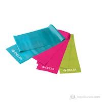 Delta Dura-Strong 3 'lü ( Fuşya-Mavi-Yeşil ) Deluxe Pilates Bant Seti – DS 7330
