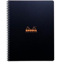 Rhodia Spiralli Plastik Kapak Çizgili Defter Siyah Rc 119901