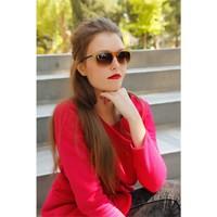 Morvizyon Clariss Marka Açık Kahverengi Geniş Çerçeveli Şık Bayan Güneş Gözlük Modeli