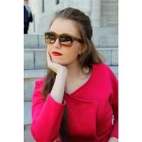 Morvizyon Trend Tasarım Clariss Marka Kahverengi Çerçeveli Bayan Güneş Gözlük Modeli