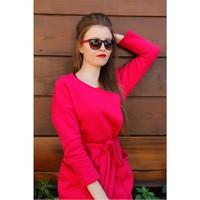 Morvizyon Yeni Trend Clariss Marka Kırmızı & Siyah Tasarımlı Bayan Güneş Gözlük Modeli