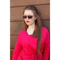 Morvizyon Clariss Marka Vizon Rengi Çerçeve Tasarımlı En Trend Bayan Güneş Gözlük Modeli