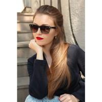 Morvizyon Clariss Marka Siyah & Mavi Detaylı Şık Bayan Güneş Gözlük Modeli