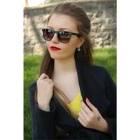 Morvizyon Clariss Marka Siyah Çerçeve Tasarımlı Bayan Güneş Gözlük Modeli