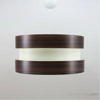 Crea Lighting Doubleshade Twin Sarkıt ( 40Cm)/Wood/Ceviz