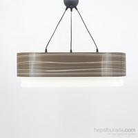 Crea Lighting Doubleshade Oval Sarkıt(70Cm-3 Ampul)/Pvc/Cappuccino