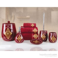 İrya Glory Kırmızı 5 Parça Banyo Set