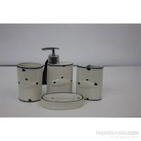 Yargıcı Porselen Porselen 4Lü Banyo Takımı