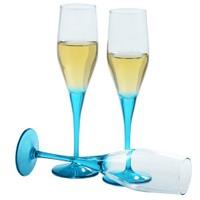 Paşabahçe 6'lı Dream Şampanya Kadehi Mavi
