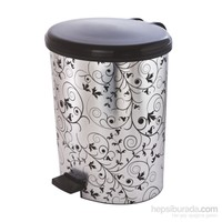 Modelüks 20 Lt Metal Desenli Plastik Pedallı Çöp Kovası