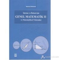 İşletme ve İktisat İçin Genel Matematik ve Matematiksel Yöntemler 2