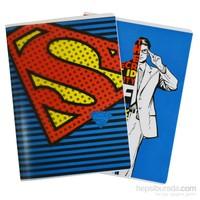 Mynote Superman Pp Defter A4 60 Yp Kareli SM6012-K