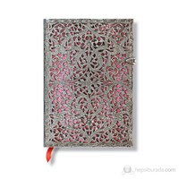 Paperblanks Silver Fligree Pink Midi Çizgili 120 x 170mm. 1935-0