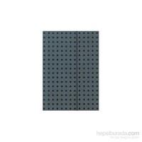 Paper-Oh 9054-0 Quadro B5 Çizgili Grey On Black Defter