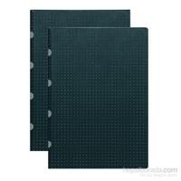Paper-Oh 9162-2 Twin A4 Çizgili Black On Grey Defter