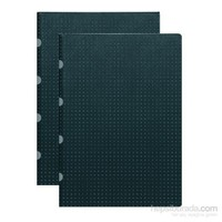 Paper-Oh 9165-3 Twin A4 Kareli Black On Grey Defter
