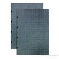 Paper-Oh 9166-0 Twin A4 Çizgili Grey On Black Defter
