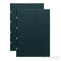 Paper-Oh 9181-3 Twin A5 Kareli Black On Grey Defter