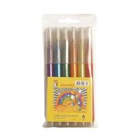 Monami Simli Keçeli Kalem 6 Renk Mkks06