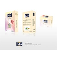 Pufai Disposable Cigarette Filters Slim Pack 25 – Pufai Tek Kullanımlık Sigara Filtresi Slim 25'Li Paket.