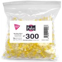 Pufai Disposable Cigarette Filters Slim Economic Pack 300 – Pufai Tek Kullanımlık Sigara Filtresi Slim 300 Adet Ekonomik Ambalaj