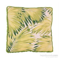 Yastıkminder Koton Sarı Yeşil Yaprak Desen Minder