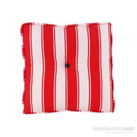 Yastıkminder Koton Kırmızı Beyaz Çizgili Minder