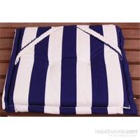 Yastıkminder Koton Lacivert Beyaz Çizgili Sandalye Minderi