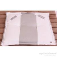 Yastıkminder Koton Gri Beyaz Çizgili Sandalye Minderi