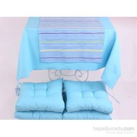 Yastıkminder Koton Mavi 4 Lü Minder Seti