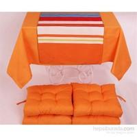 Yastıkminder Koton Oranj ( 1) 4 Lü Minder Seti