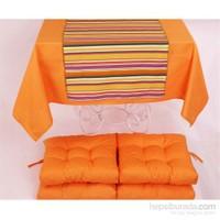 Yastıkminder Koton Oranj ( 2) 4 Lü Minder Seti
