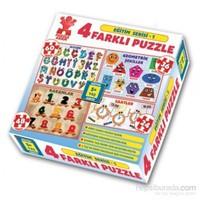 Puzzle Adam Eğt Serisi 4'lü Kutu Puzzle –Seri 1