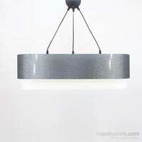 Crea Lighting Doubleshade Oval Sarkıt(70Cm-3 Ampul)/Şeffaf/Gümüş