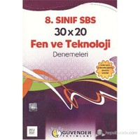 Güvender 8. Sınıf 30X20 Fen Ve Teknoloji Denemeleri
