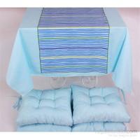 Yastıkminder Polyester Mavi 4 Lü Minder Seti