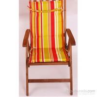 Yastıkminder Koton Polyester Çift Kademeli Fıstık Kırmızı Sandalye Minderi